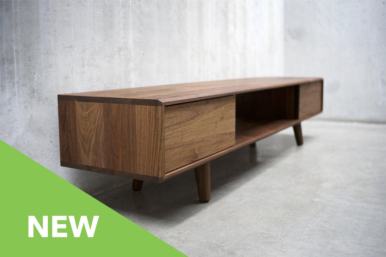 48 Solid Black Walnut Credenza/ Sideboard/ Cabinet/