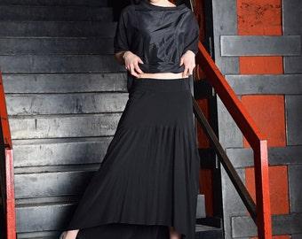 Items similar to Extra long black skirt / maxi skirt /- C002 on Etsy
