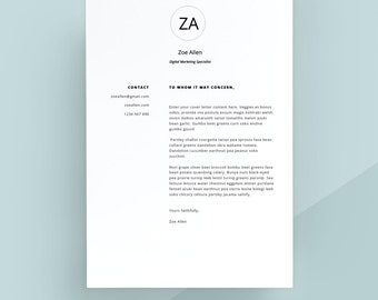 modern cover letter template cover letter letterhead word template simple cover letter