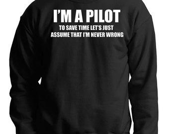 Aviator Sweatshirt Pilot Sweater Gift For Pilot Birthday Gift Sweatshirt