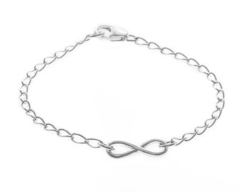infinity jewellery. sterling silver infinity bracelet | jewellery symbol chain