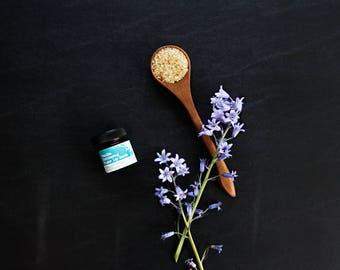 Mix| Vanilla Rejuvenating Turbinado Sugar Lip Scrub in Amber Jar, 25mL, For Rejuvenating Dry, Cracked and Flaking Lips