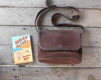 Vintage COACH Sonoma Nubuck Suede Brown No.A5B-4935 Leather Crossbody Messenger Bag , Shoulder Bag / Medium / Made in The United States