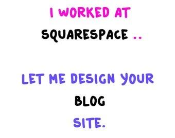 Custom Squarespace Blog Website
