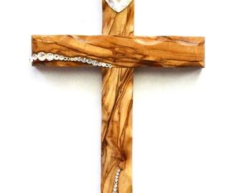 Handmade Ornaments - Olive Wood - Ornament - Freestyle Cross