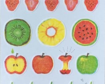 Fruit sticker,sketch,sticker,colorful craft supply,scrapbook supply,diary sticker,colorful sticker