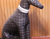Meet Brooklyn! Brooklyn is a one-of-a-kind, almost life size, sitting soft sculpture greyhound - and part of the sibling collection.