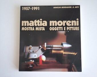 Modern Art Catalogue Mattia Moreni 1957 - 1991, objects and paintings, Italian modern art book