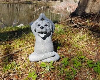 Buddha Cat Meditating Cat Yoga Cat Garden Decor Cat Statue