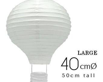 10 LARGE White Hot Air Balloon Paper Lanterns (40cm / 16 inch) - DIY Wedding, Birthday, Party, Baby Shower, Nursery Decoration