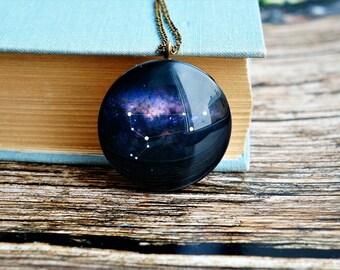 zodiac jewelry leo , leo constellation necklace  , leo jewelry , leo star sign , star sign necklace , horoscope necklace , zodiac necklace