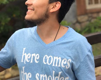 Flynn Rider inspired mens couples shirt - Here Comes the Smolder - Tangled inspired Disney inspired
