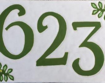 Corner flower address tile