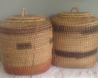 Set of 2 Twisted willow basket