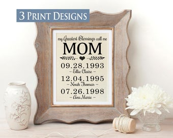 Mom from Daughter | Gift for Mom | Mother Day from Daughter | Gift for Parent | Mom from Son | Mom Birthday Gift | My Greatest Blessings