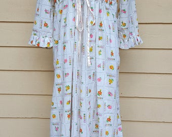 Vintage 1970's Maxi Nightgown Negligee Set Large by Bard