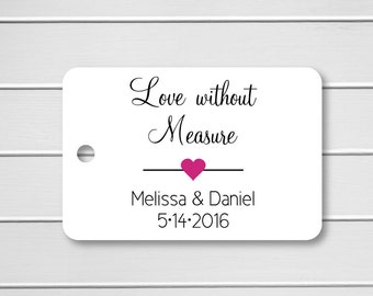 Love Without Measure Tags, Love Without Measure Favor Tags, Wedding Favor Tags, Small Wedding Favor Tags (RR-085)