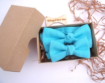Father and Son Matching Bow Ties. Father and Son Matching Set. Dad and Son Bow Ties. Groom and Ring Bearer Bow Ties