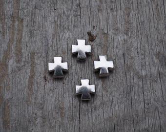 Petite Silver Block Cross