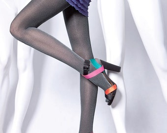 Shiny Glitzy Retro Pantyhose 1970s Style