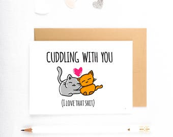 Naughty Card, Funny Boyfriend Card, Cute Boyfriend Card, Fiance Card, Cute Husband Card, Funny Love Cards
