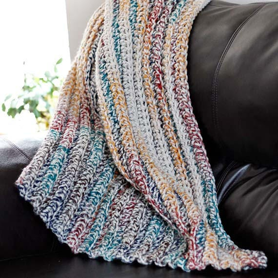 PDF Crochet Pattern - Crochet Chunky Blanket 5 sizes