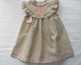 Easter Dress Girl, Easter Dress Toddler, Easter Dress, Spring Dress, Monogram Dress, Monogram Easter Dress, Summer Dress, Birthday Dress