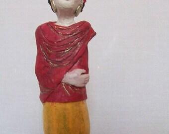 Frida, bulb, unique OOAK sculpture