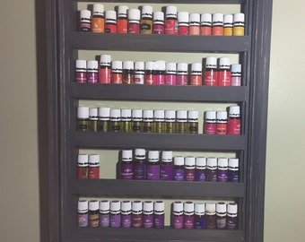 Essential Oils Large Vintage Handmade Wooden Wall Shelf