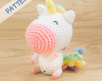 Unicorn Crochet Pattern - Amigurumi Unicorn Pattern - Unicorn Toy Pattern - Crochet Unicorn Pattern - Unicorn Plush Pattern - Unicorn Gift