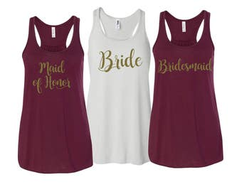 Flowy Tanktops, Bridesmaid Flowy Tanks, Bachelorette Party Tank Tops, Bridesmaid Tanktops, Bachelorette Party Shirts, Bridesmaid Tanks