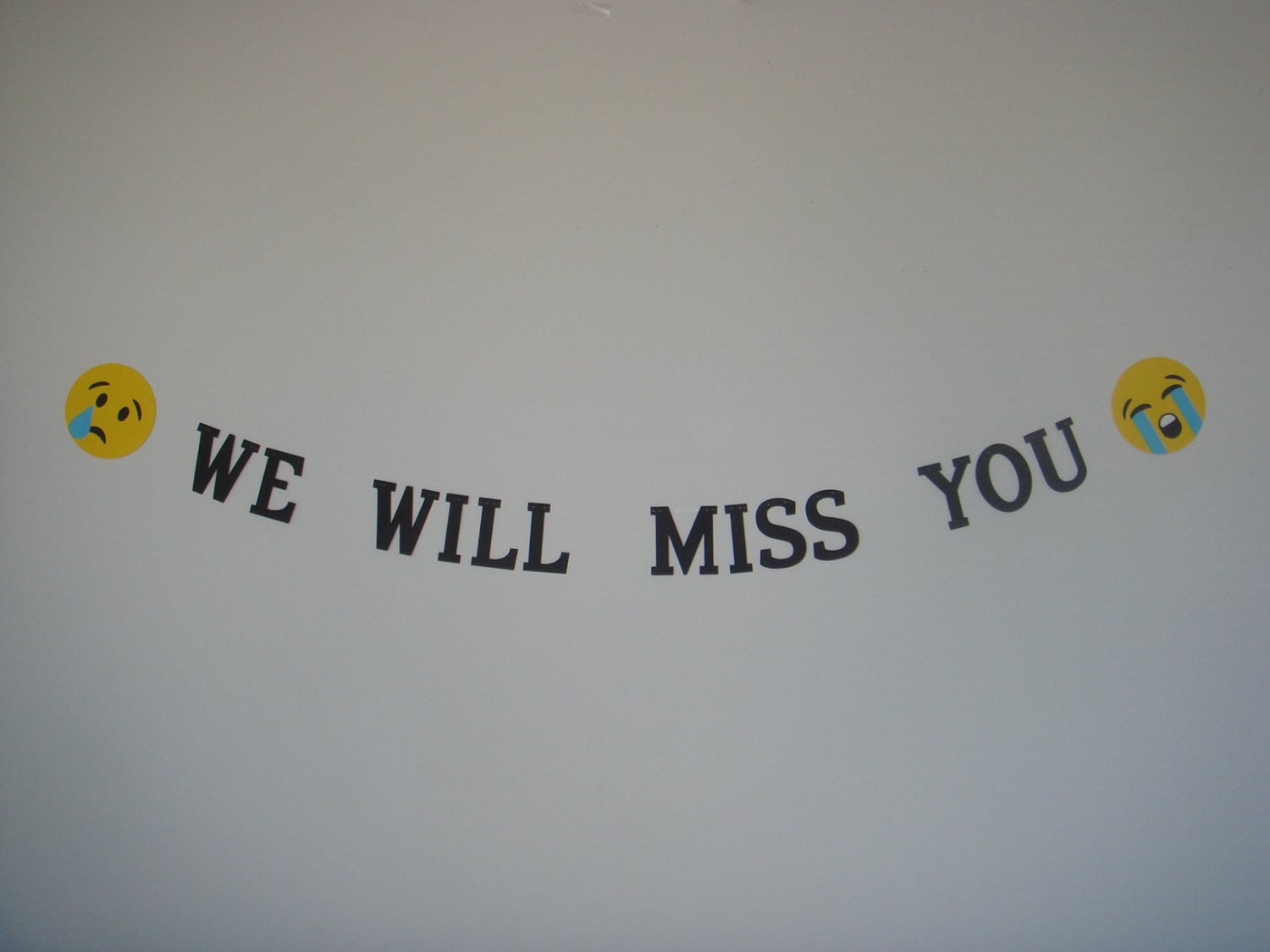 We Will Miss You banner decoration decor garland sign die cut
