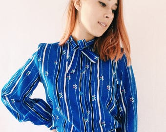 Delicious vintage suits top,secretary blouse with vintage skirt from the 70s