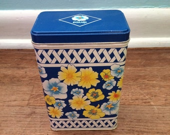Vintage Floral Decorative Tin