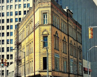 The historic Miner building in Detroit. One of Detroit's pocket flatirons.