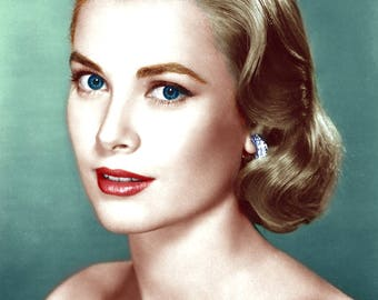 8x10 Grace Kelly Recolored Photograph