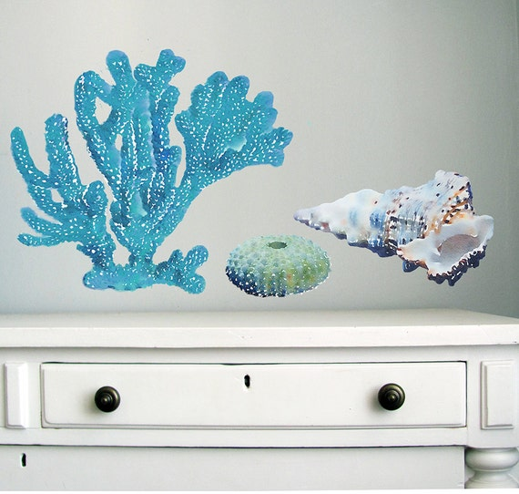 Sea Wall Decals Coral Wall Sticker Seashell Decal