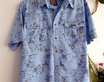 Cotton hawaiian shirt, size L