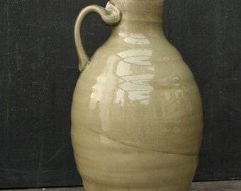 70 oz Pottery Beer Growler! Handthrown Ceramic Growler in Celadon: Great for the brewery, homebrew, cider or kombucha too!
