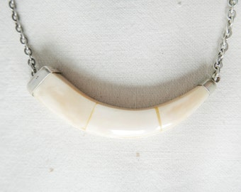 Hand Made Bone Necklace-Minimalist jewelry- Vintage Necklace with Bone