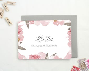 Personalized Bridesmaid Proposal Cards. Be My Bridesmaid. Bridesmaid Cards. Asking Maid of Honor. Proposal Bridesmaid. Flower Girl Proposal.