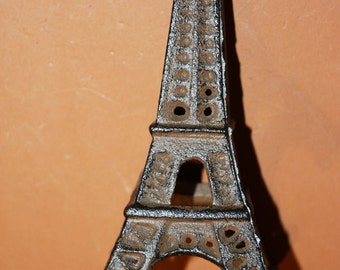 """Eiffel Tower Bric-à-brac, Free Shipping, Cast Iron 6 1/4"""" tall, Ready to Paint Eiffel Tower Project, French Decor, Paris, S-4"""