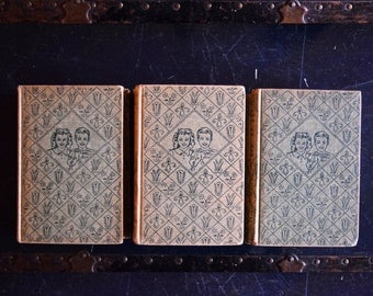 Antique Bobbsey Twins Book Collection - Set of 9 Hardcovers - Grosset & Dunlap - Laura Lee Hope - 1940s - Printed in New York, USA