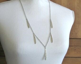 Teardrops Necklace - Silver Boho Necklace, Tribal, Bohemian Jewelry, Coachella Style, Long Layering