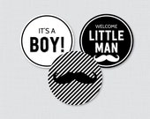 Mustache Baby Shower Cupc...
