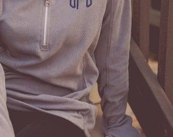 Monogram Microfleece Jacket | Half Zip Jacket | Monogram Jacket | Monogrammed Fleece | Lightweight Pullover | Gift for Her | Gifts under 50