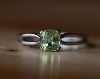 Garnet January Birthstone Garnet Rings- Create Your Own Mint Garnet Ring - Tsavorite Grossular Garnet custom ring design by Anueva Jewelry
