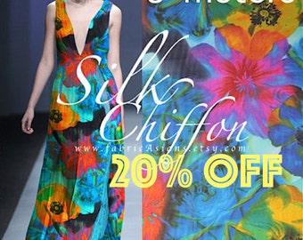 Turquoise Silk Chiffon 135x300cm buy colorful Silk