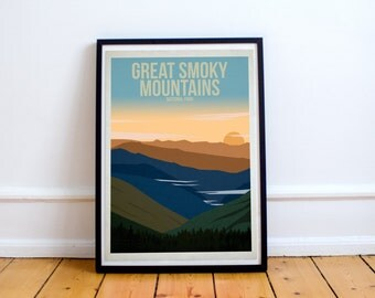 Great Smoky Mountains National Park - US National Parks - Art Print - (Available In Many Sizes)