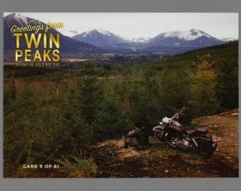Twin Peaks Gold Box Postcard Card # 8 of 61 James Hurley Motorcycle